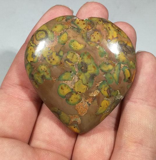 Fruit Jasper Heart 85g