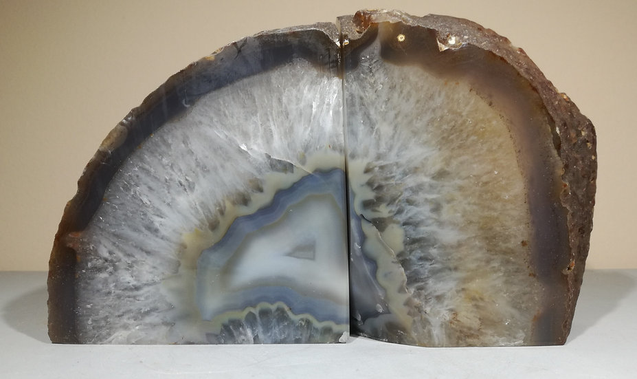 Natural Grey Agate Bookend 3.2kg
