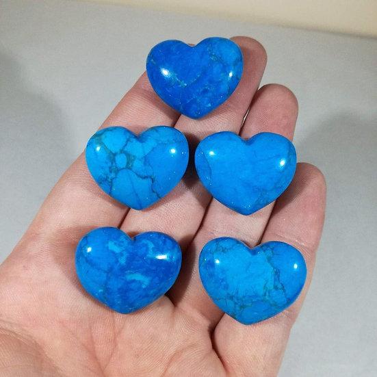30mm Turquoise/ Blue Howlite Heart