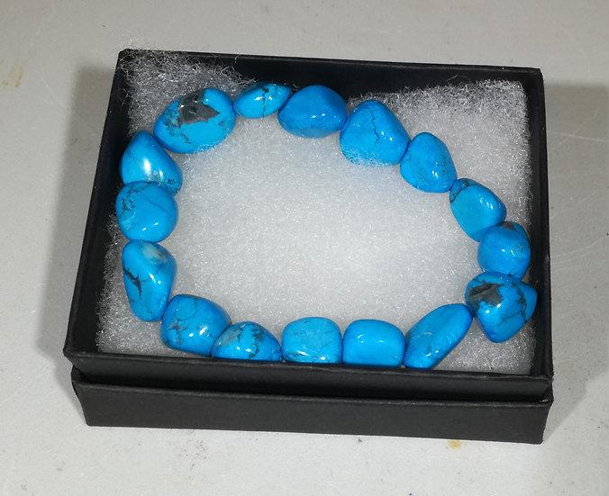 Blue Howlite Bracelet With Gift Box