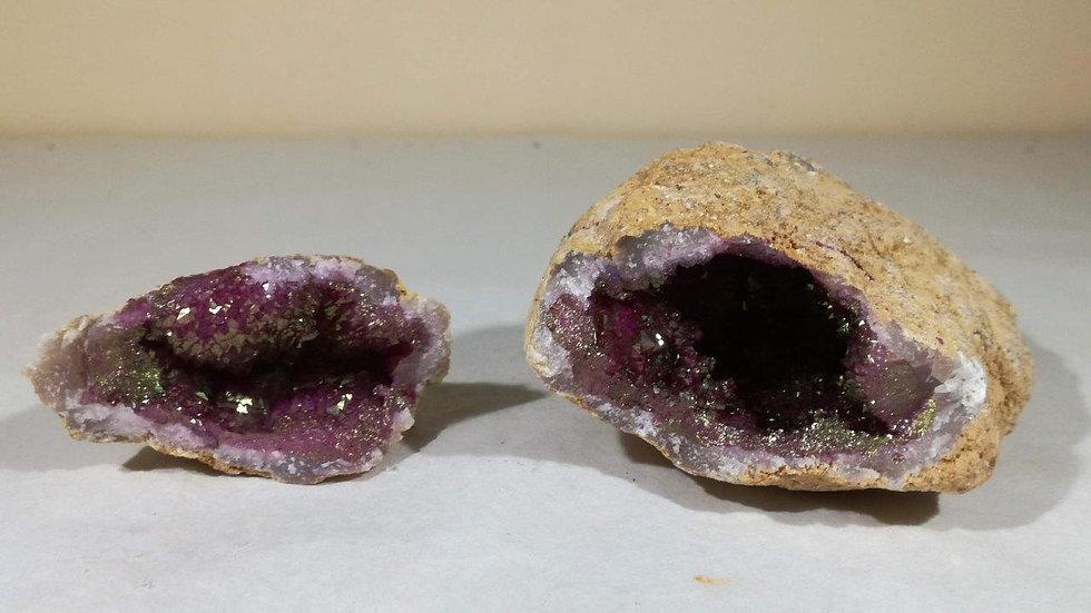 Dyed Mauve Quartz Geode