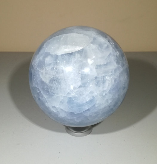 95mm Blue Calcite Sphere With Stand