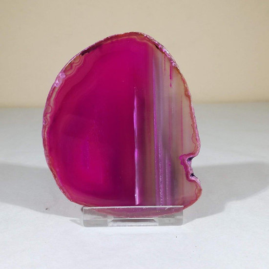 Large Pink Agate Slice
