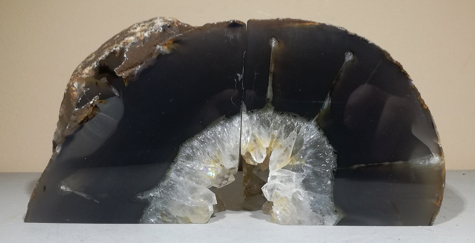Natural Grey Agate Bookend 2.4KG