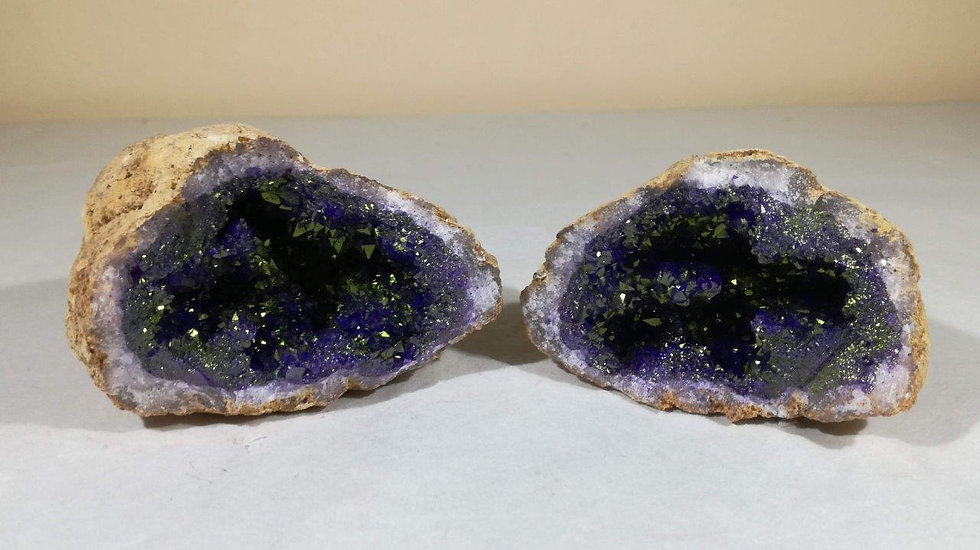 Dyed Purple Quartz Geode