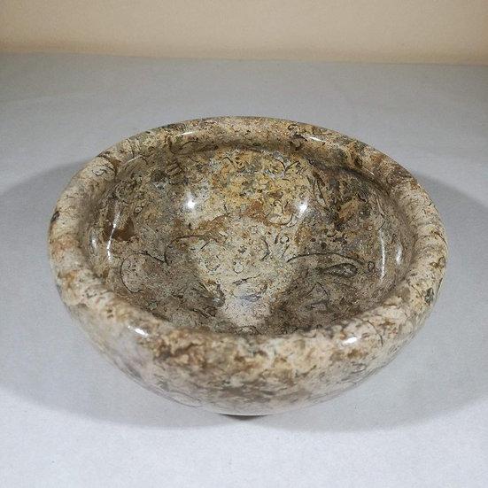 Polished Fossilstone Bowl