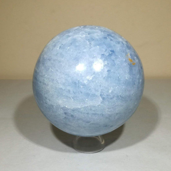 90mm Blue Calcite Sphere With Stand -1.26kg