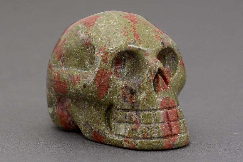 Unakite Skull Carving