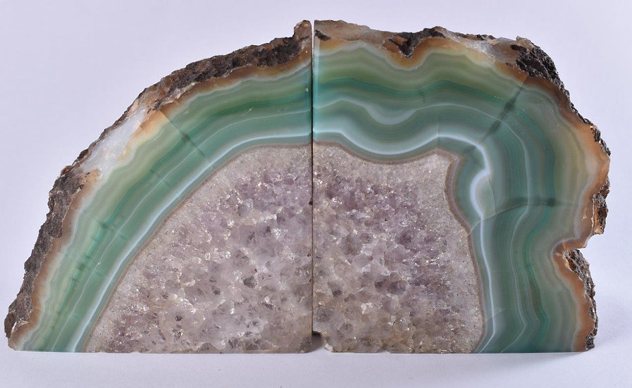 Natural Green Agate Bookend 2.65KG