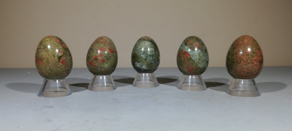 Unakite Egg With Free Stand