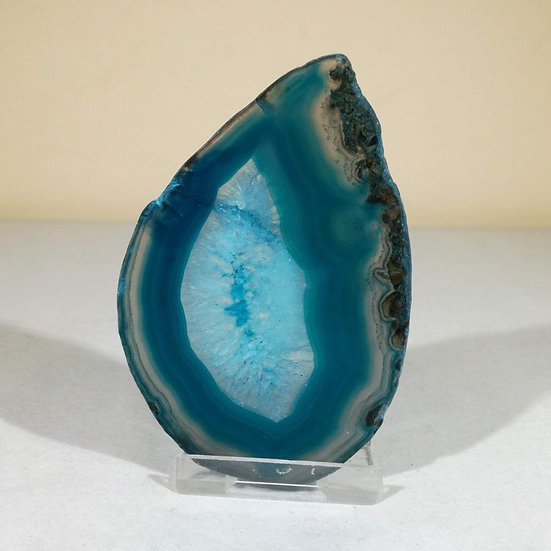Large Green Agate Slice