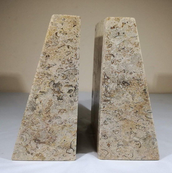 Polished Fossilstone Bookend
