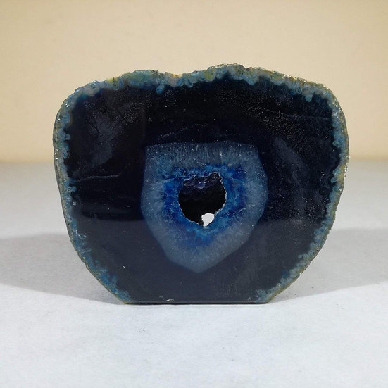 Small Blue Agate Geode 256g