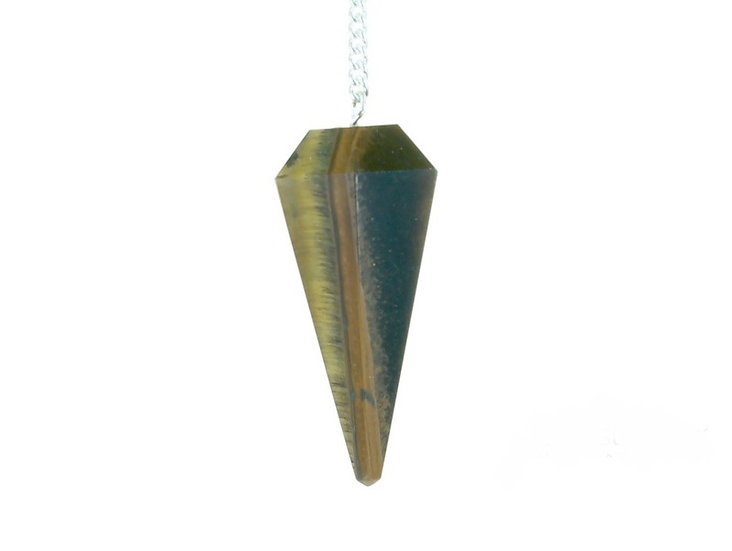 Tigers Eye Faceted Pendulum