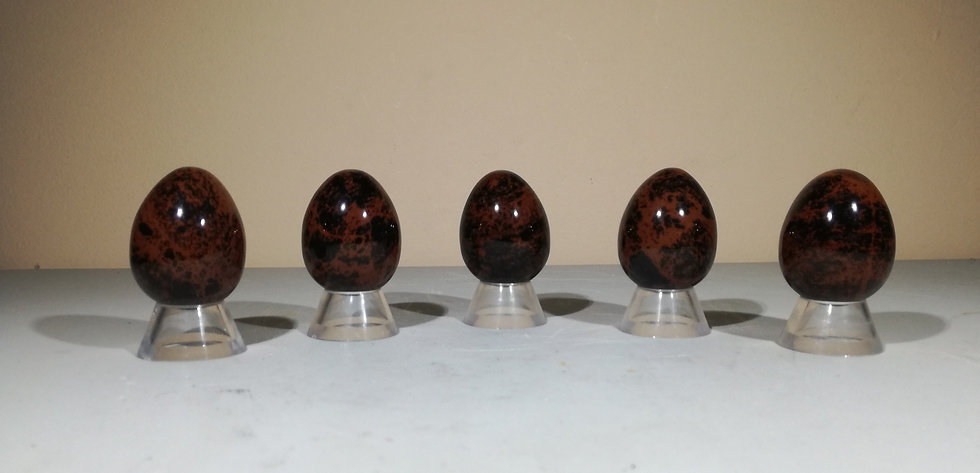 Mahogany Obsidian Egg With Free Stand