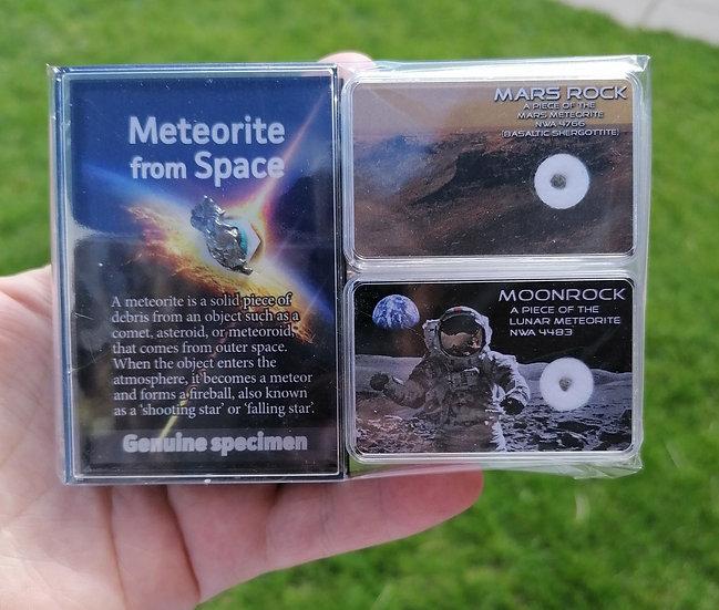 Moon Rock/Mars Rock/Meteorite Gift Pack - Campo Del Cielo