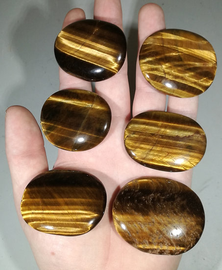 Tigers Eye Palmstone 50-55mm