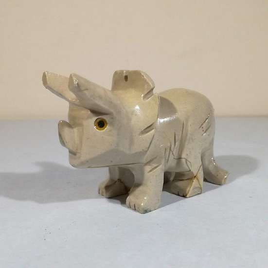 70mm Soapstone Triceratops