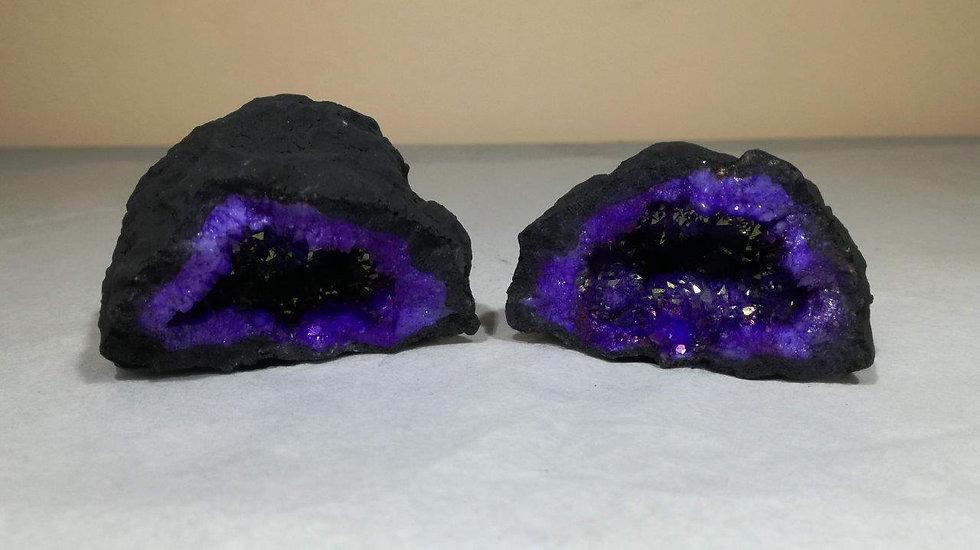 Dyed Purple Quartz Geode