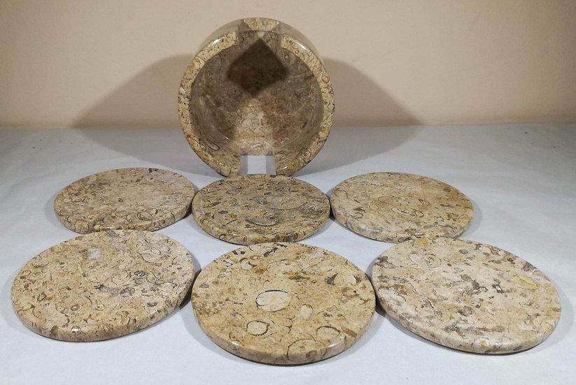 Fossilstone Coaster Set