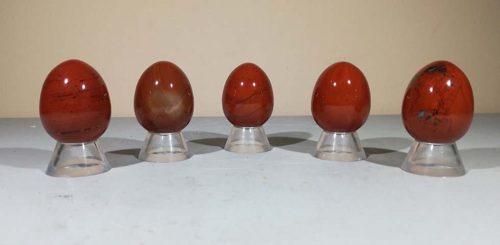 Red Jasper Egg With Free Stand