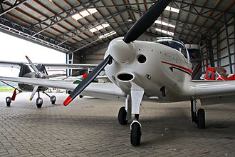 Small private lightweight propeller airp