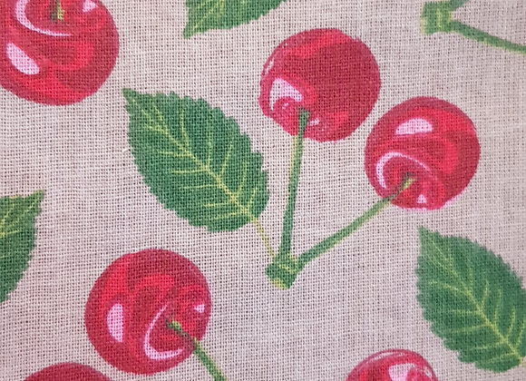 Canvas cherries beeswax wrap