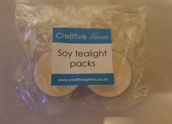 Soy tealight candles