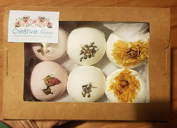 6 x Mini bath bomb gift box