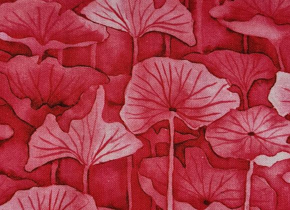 Pink leaf outline