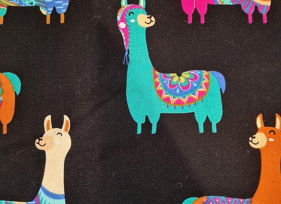 Colourful Llama on black background