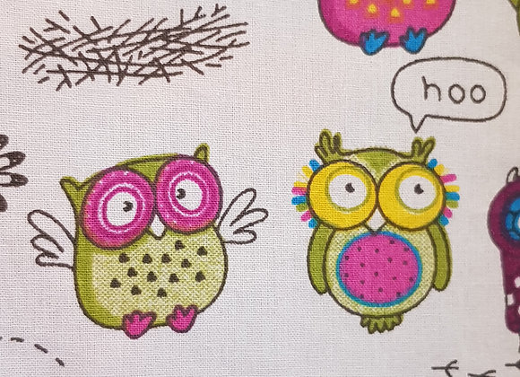 Large owl beeswax wrap