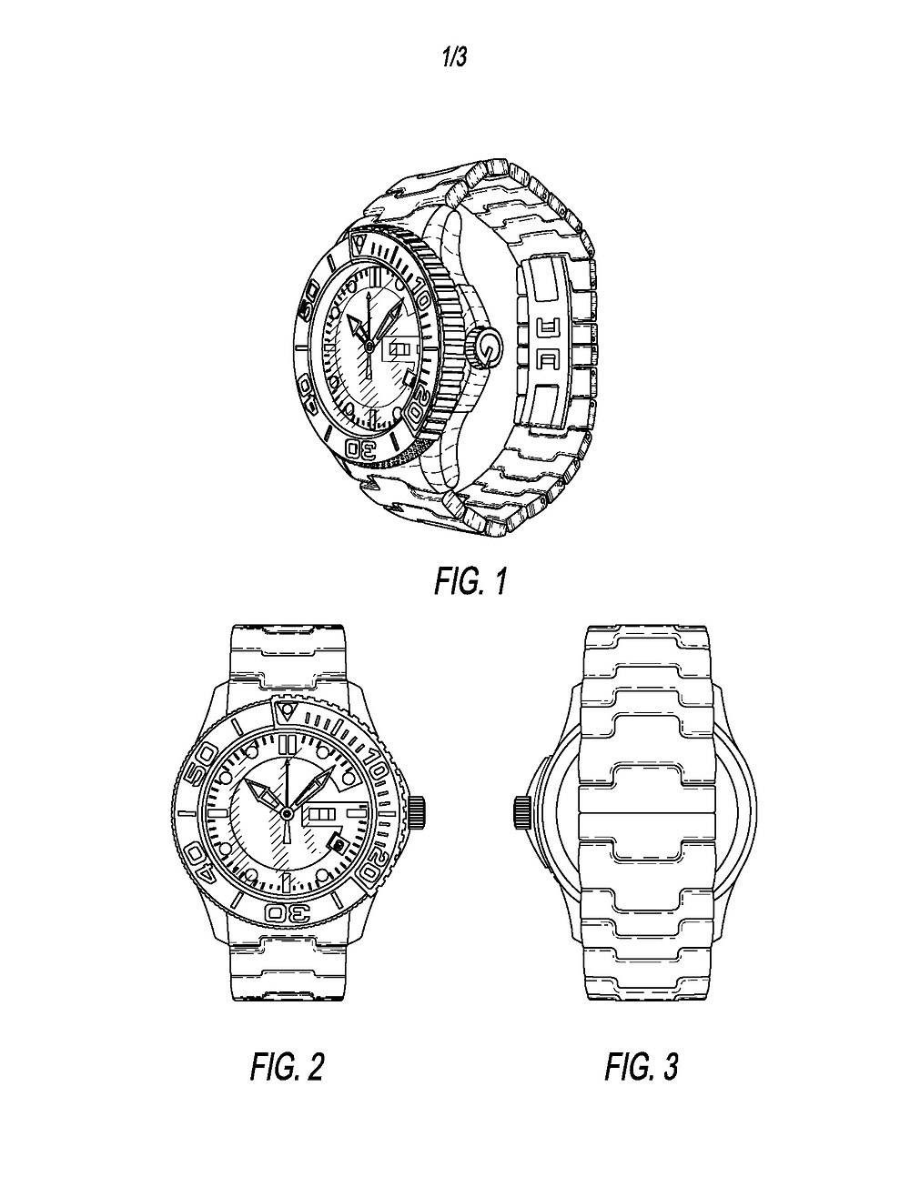 Granted Design Patent Illustration - Watch Design