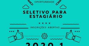 Inscrições abertas do processo seletivo para Estagiário