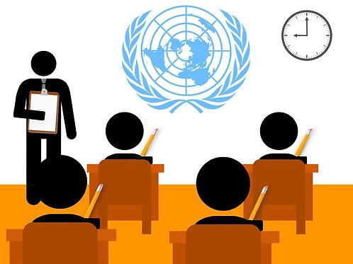 UN Entrance Exam Preparation  Course Duration: 7 hours  ¥4,850/hour