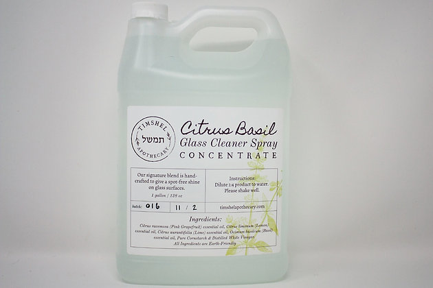 Citrus Basil Glass Cleaner Concentrate