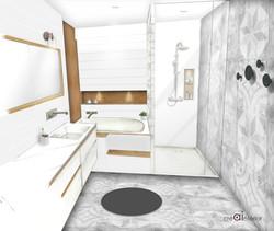 Projet salle de bain 8m2