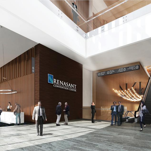 Renasant Convention Center Rendering Eas