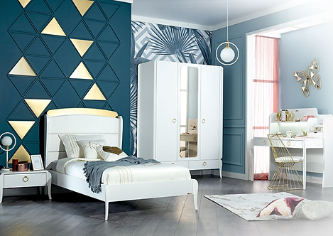 ELEGANT WHITE KIDS BEDROOM