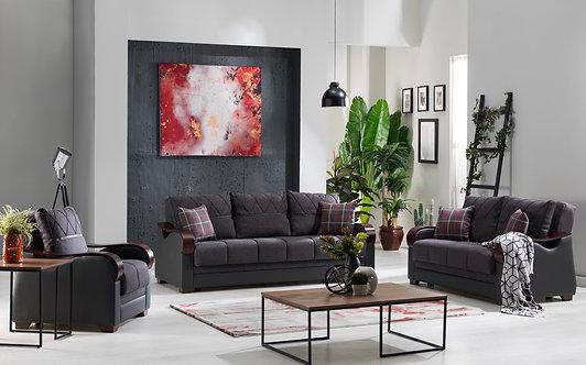 Bennett Nar Antrasit Sofa Bed , Loveseat & Chair by ( ISTIKBAL)