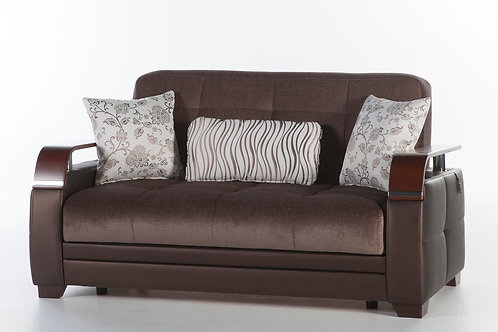 Natural Prestige Brown Loveseat by Sunset (ISTIKBAL)