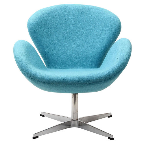 Wing Upholstered Lounge Chair Baby Blue by Modway