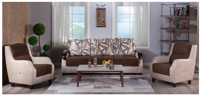 Costa Best Brown Sofa, Loveseat, Chair (ISTIKBAL)