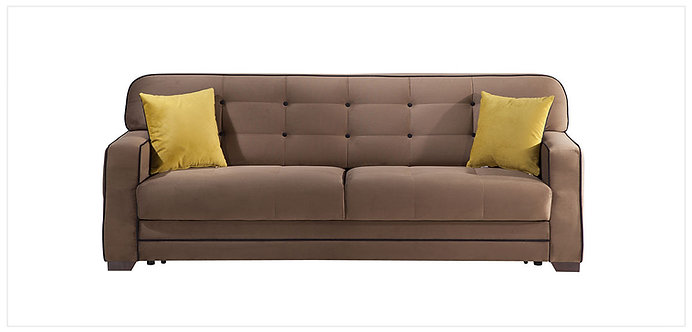 Fluo Koala Brown Convertible Sofa Bed by Sunset