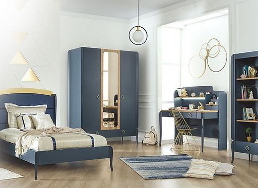 ELEGANT BLUE KIDS BEDROOM