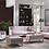 Thumbnail: Blair Deha Silver Sofa, Love & Chair Set w/Chrome Legs by Istikbal