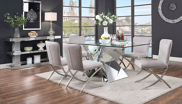 Noralie Rectangular Dining Room Set w/ Daire Chairs