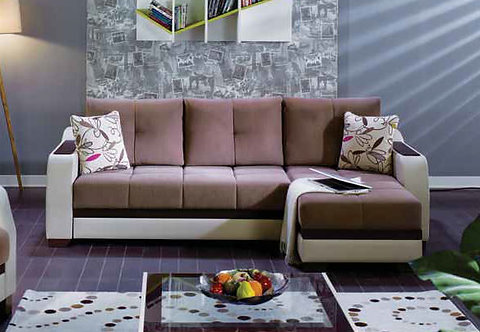 Ultra Optimum Brown Sectional Sofa ( ISTIKBAL )