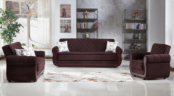 Argos Colins Brown Sofa, Love & Chair Set (ISTIKBAL)