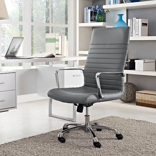 Finesse Highback Office Chair Gray by Modway